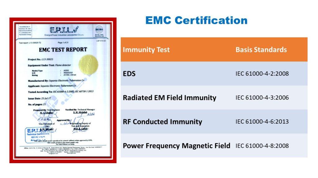 گواهینامه emc، سازگاری الکترومغناطیسی